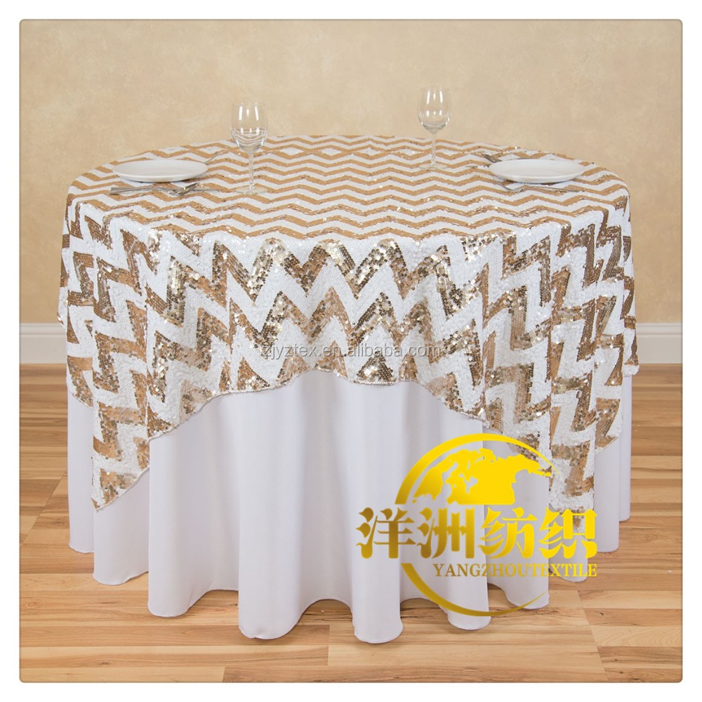 wholesale custom wedding sequin table cloth 90""