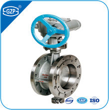 Stainless steel rising stem flanged butterfly valve with handwheel
