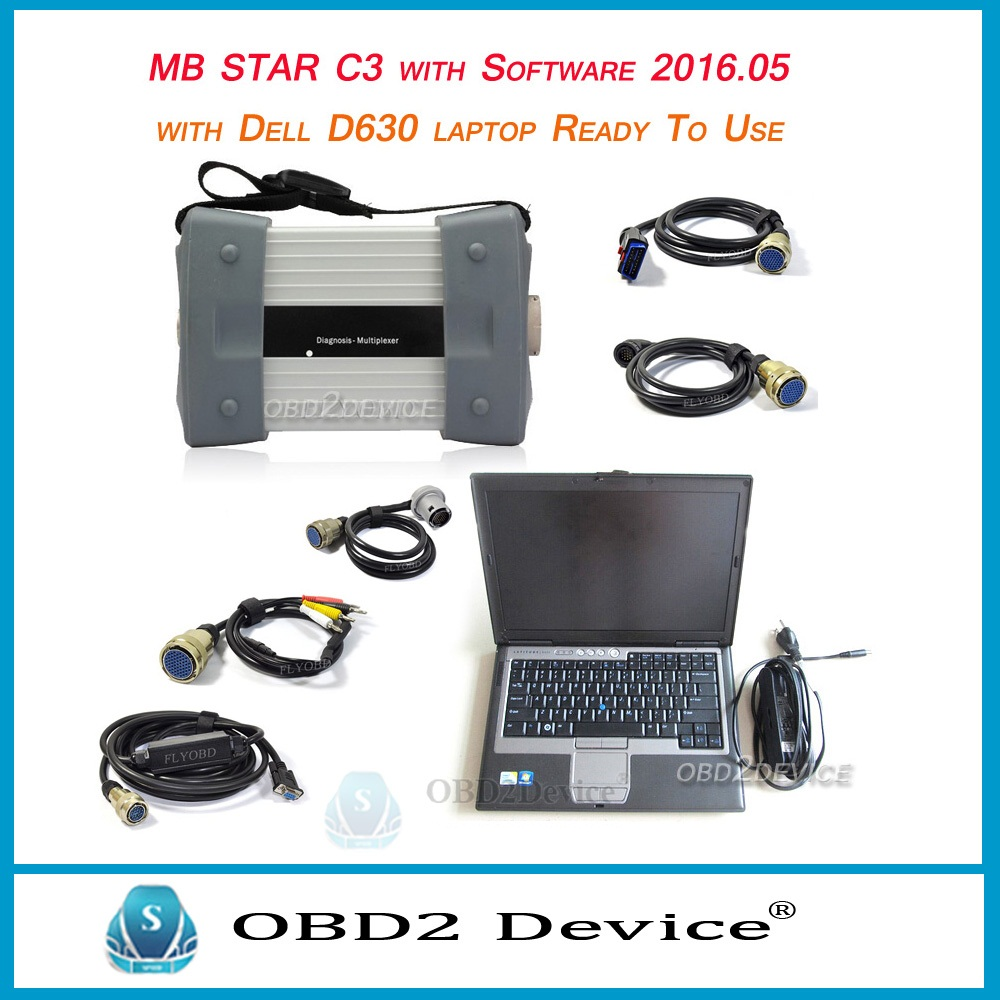 Original MB Star C3 + laptop d630 MB Star C3 pro auto diagnostic tool mb c3 star diagnosis multiplexer xentry free shipping