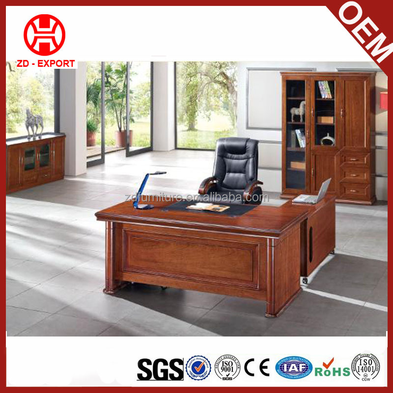 L shape executive wooden office furniture table with competitive price