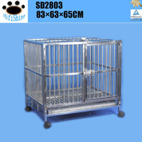 wholesale foctory large luxury double strong stainless steel dog cage