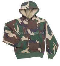 Kid's casual camouflaged hoody clothing