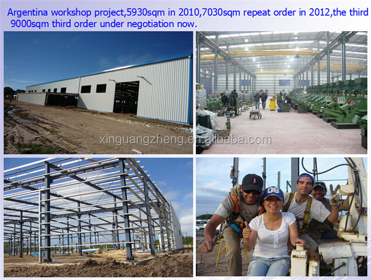 portal frame prefabricated steel structure industrial workshop in Thailand