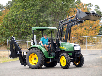 hot sale in Australia ENFLY DQ554 with front end loader and backhoe, farm tractor, agricultural tractor