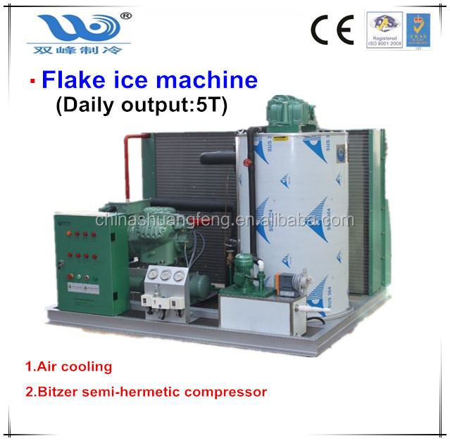 5Tons Flake Ice Machine / Ice Flaker Producer flaking ice maker