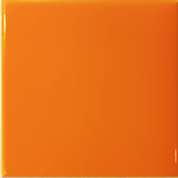 15x15 Orange Ceramic Wall Tiles Glossy Surface Interior