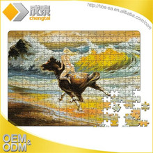 Custom adult paper jigsaw puzzles with box packaging