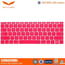 2016 Colorful Waterproof Silicone Keyboard Cover for Macbook Air