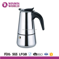 Italy Stainless Steel Professional Espresso Coffee Maker/Pot Machine 6 Cup