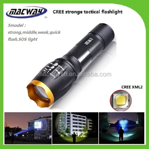 China Made Cheapest Tactical As Seen on TV Product Led Geepas Flashlight