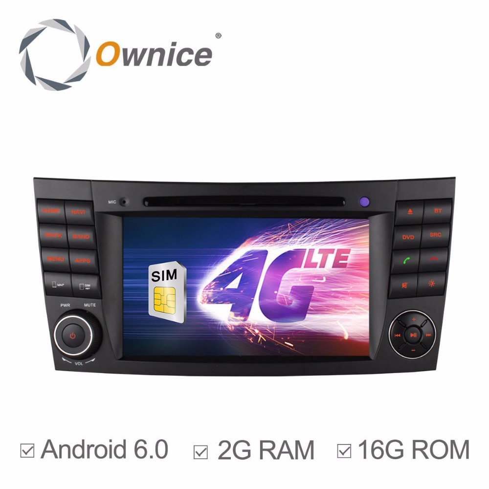Ownice C500 Android 6.0 system car audio player for Benz CLK W209 (2005-2006) Built 4G with GPS Support DVR digital TV