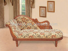 Lifelike Swan Solid Wood Chaise Lounge, Wooden Carved Living Room Furniture,Arabia Leisure Wooden Reclining Chair