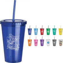 quick delivery double wall plastic acrylic tumbler cups with straw and lid