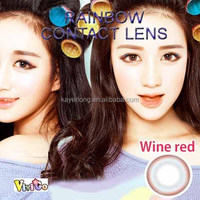 wholesale big size color lens make up colorful contact lenses rainbow red