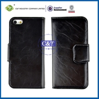 C&T Stowaway credit card wallet leather/pu case for iphone5