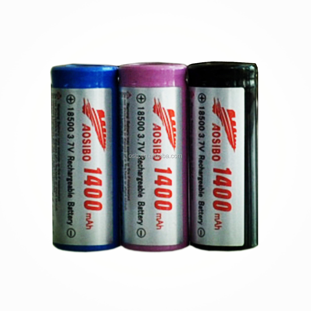 18500 lifepo4 rechargeable battery 18500/18500 rechargeable battery 3.7v 1400mah/18350 18500 18650 battery a mod/li-ion battery