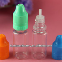 Child proof medicine containers,PET 10ml childproof&tamperproof cap with long thin tip