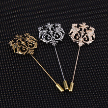 Fashion men lapel pin vintage double lion brooch pins men free shipping, wedding brooches for drop shipping wholesale fashion