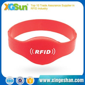 Most Popular Comfortable Design Printed Silicone Rfid Wristband