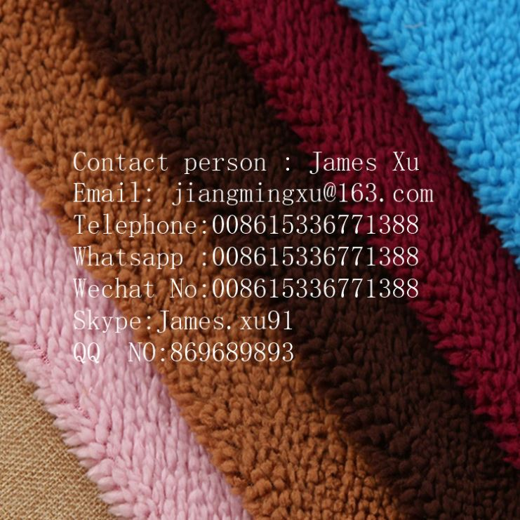 custom made polyester spandex blend fabric velour for lady garments