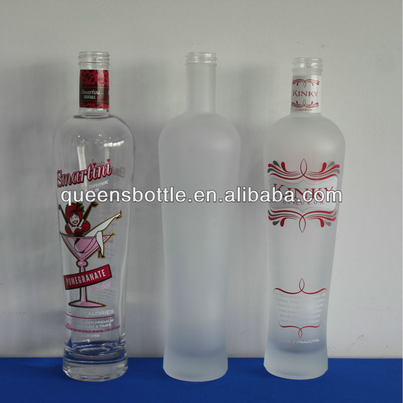 750ML ANTIQUE LIQUOR BOTTLES WITH FROST AND DECAL