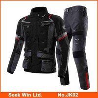 Pro OEM Sports Clothing Refective Motocross Suit with Superior Protector Gear Waterproof Windproof Motorcycle Jackets And Pants