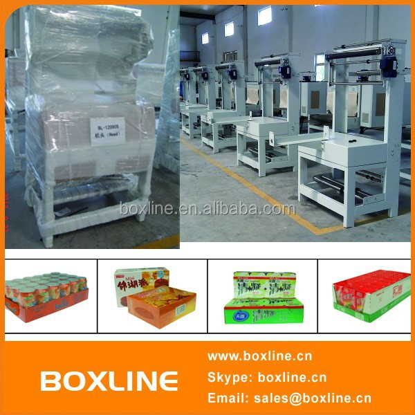 PP PE film carton box bottles heat shrink packaging machine