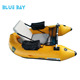 One person fly fishing boat PVC single belly boat