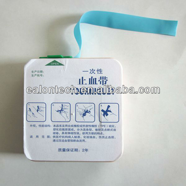 First Aid medical surgical disposable tourniquet rubber band manufacture