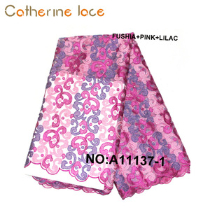 Catherine Korean Style Embroidery French Lace Fabric For Party Dress