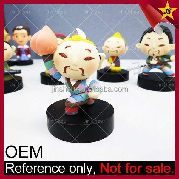 Custom Plastic Anime Miniature Rubber PVC 3D Rubber Figure