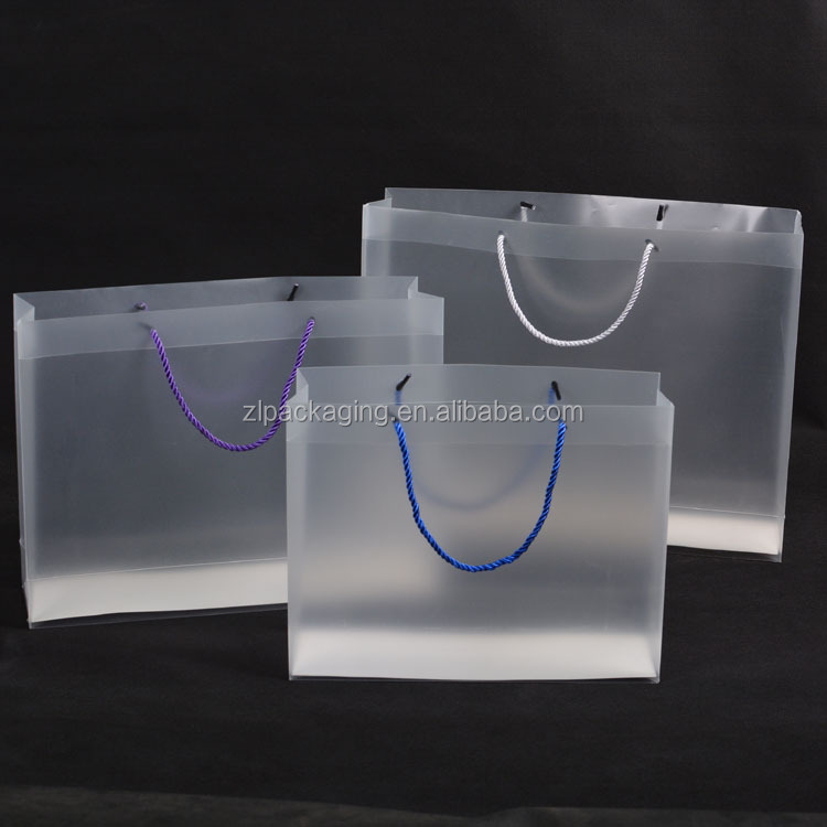 Custom printed PVC transparent plastic gift bag