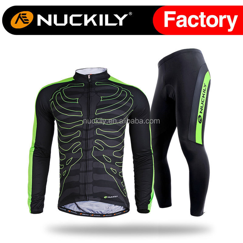Nuckily 2016 hot selling polyester spandex Sports custom <strong>cycling</strong> long set