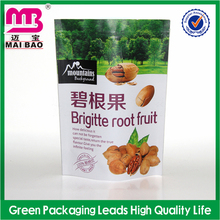 Custom Vivid Printing Zipper lock Stand up Pouch Plastic Bags for Dried Fruit Food