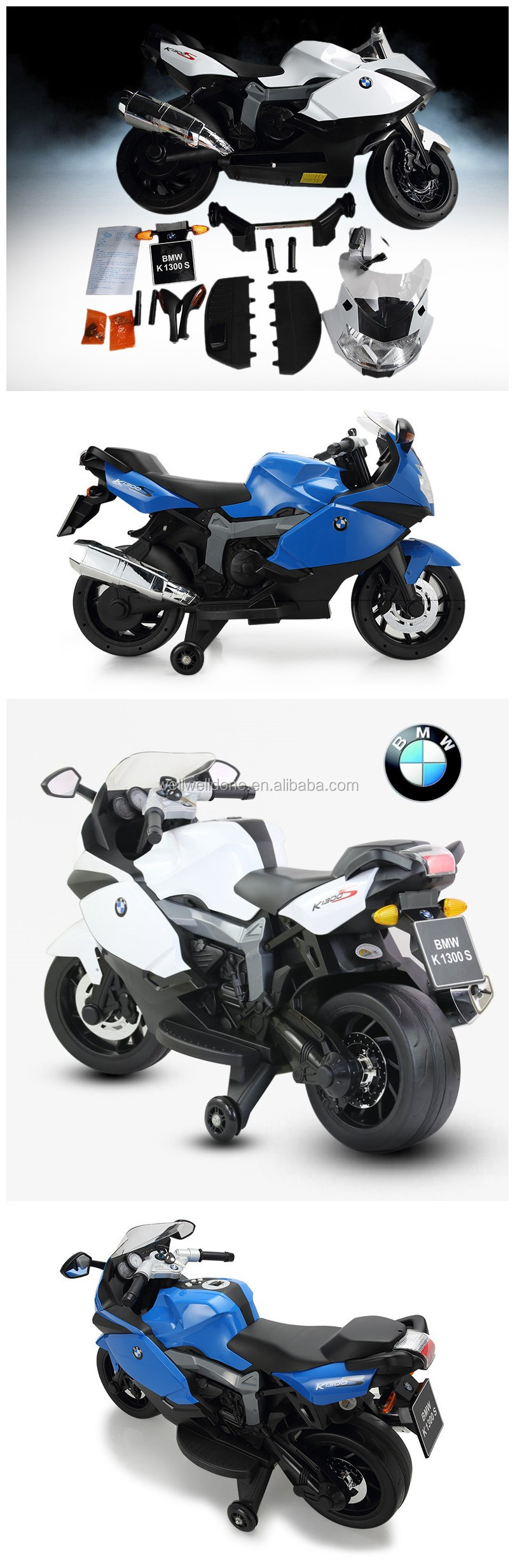 Licensed BMW motorcycle ride on car for kids with music and lights WD283