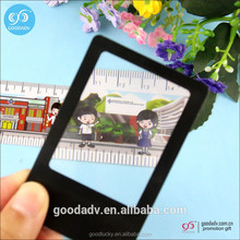 Credit card size plastic custom mini square magnifying glass