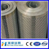 superior quality round /hexagonal shaped 316 stainless perforated metal rolls