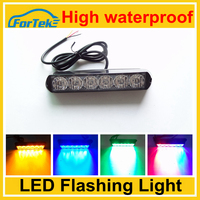 Easily installation led traffic warning light 6W high quality flashing led strobe light for car