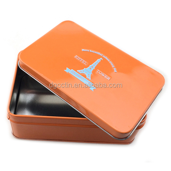 Custom empty metal condom tin box/gift packing box