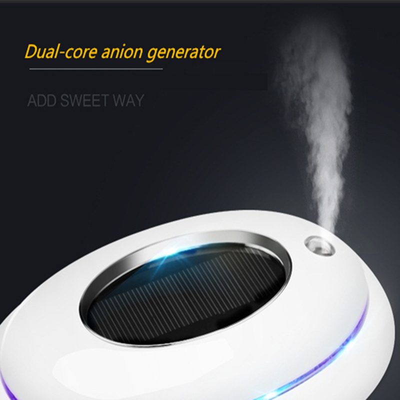 Battery or USB powered ozone anion air purifier for home and car from OHMEKA