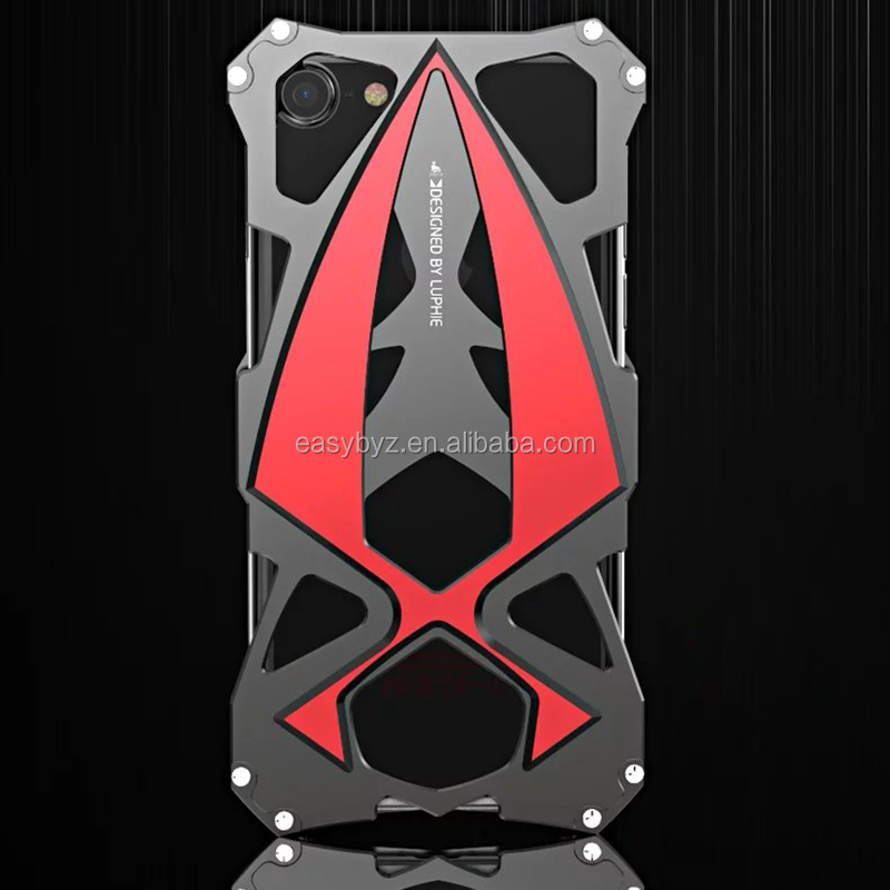 Best Sports Car Design Cool Cell Phone Case For Iphone 7 plus Aluminum Metal Protective Case