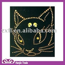 Wholesale Iron On Rhinestone Transfer with Nailhead in Panther Design For T-Shirt