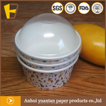 ice cream paper cup with lid spoon, double PE ice cream