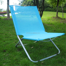 Hot selling flexible lightweight fabric sling folding deck chair