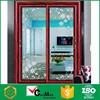 Retractable red warehouse security glass door house