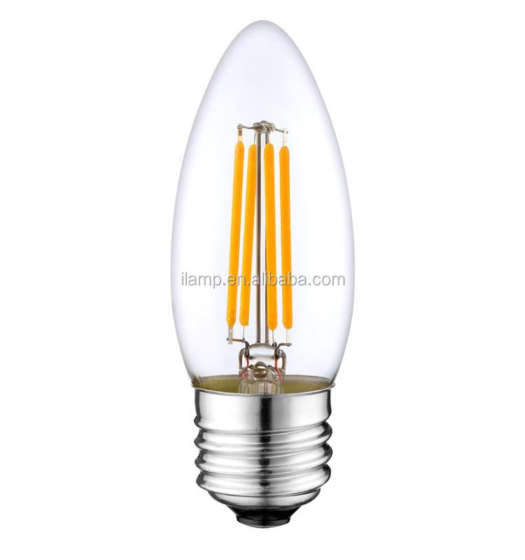 high quality 120v ul certified 2w 4w 6w led filament light full glass 230v nice dimmable pf>0.9 edison filament led bulb