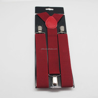 Custom Solid Color Elasticity Suspenders Cheap China Made