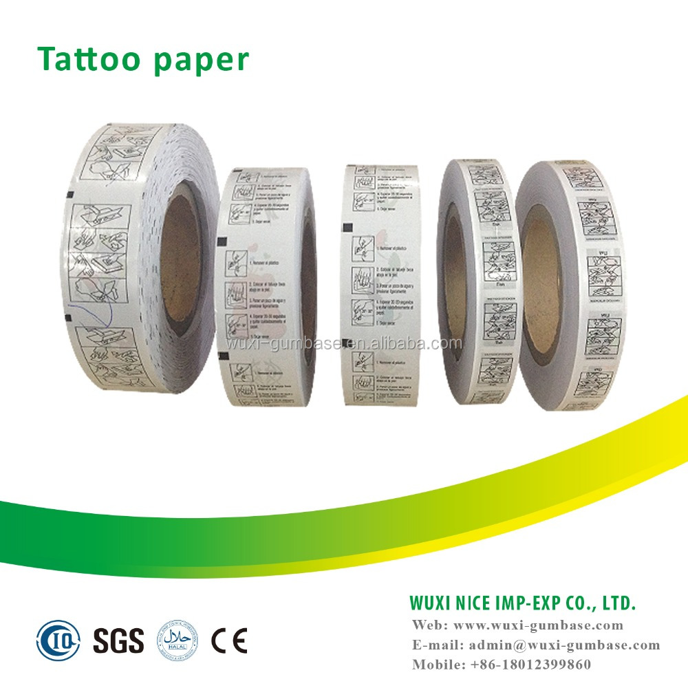 custom design printed temporary tattoo paper
