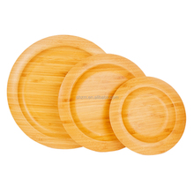 New Design Round Bamboo Serving Dishes/Bamboo Sushi Serving Plate
