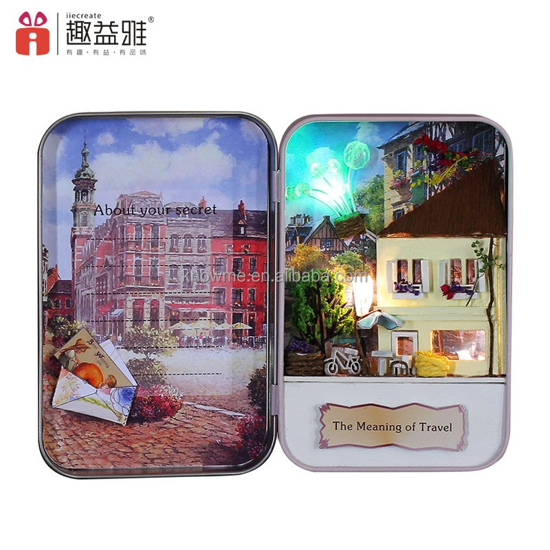 Popular 2016 Kid Handmade Beautiful Wooden Puzzle 3D Dollhouse Romantic Birthday Gifts For Girlfriend The Meaning Of Travel